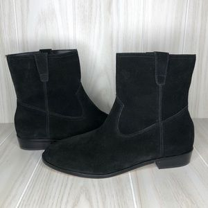 Rebecca Minkoff Chasidy Black Suede Ankle Boots
